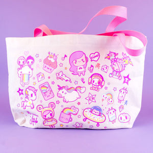 Load image into Gallery viewer, tokidoki x iHasCupquake Tote Bag