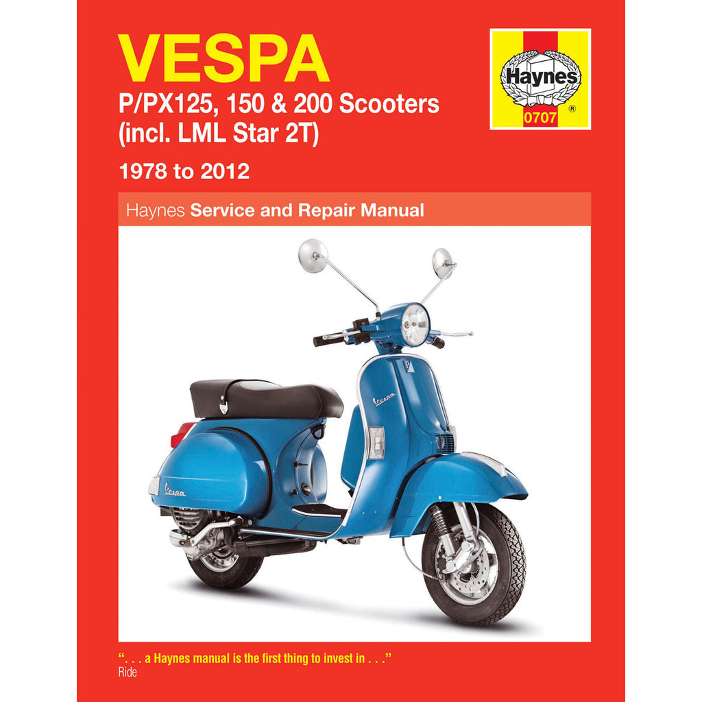 Vespa Haynes Manual For Vespa Pe, PX, T5 and LML Models