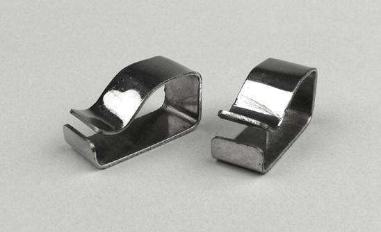 Lambretta Clip - Side Panel Buffer - Post Mod - Stainless Steel - 1 Pair