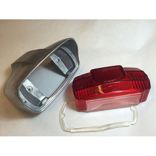 Lambretta Tail Light Housing & Lens - late Series 2 - Scootopia