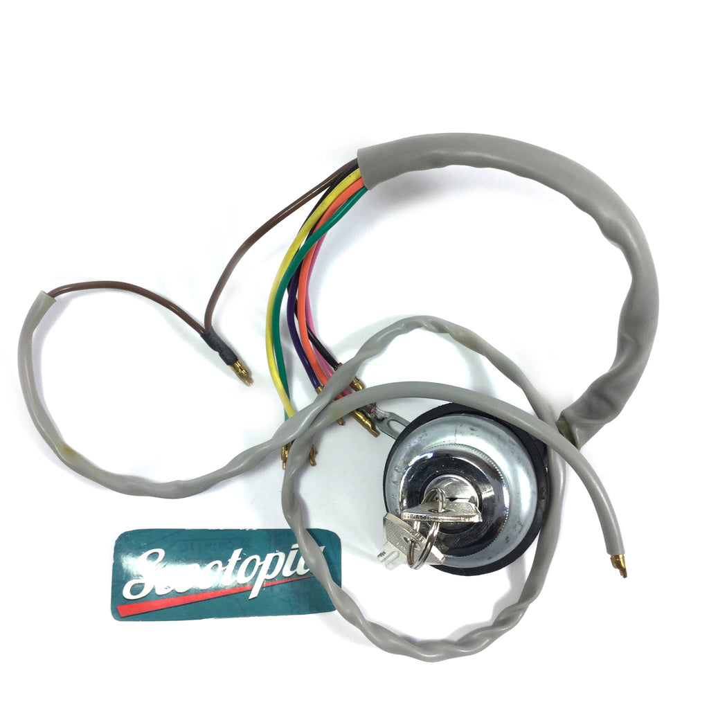 Lambretta Ignition Switch - 6 Pole AC - Scootopia