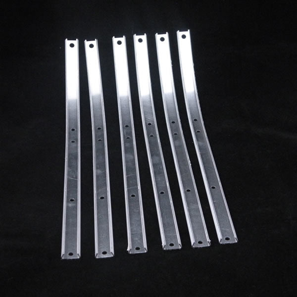 Lambretta: Floor Channel, Aluminum - Series 1 / 2 - Set / 6