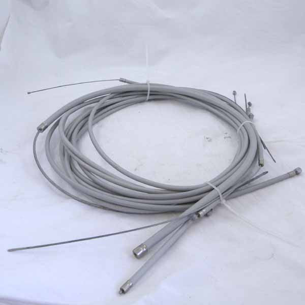 Lambretta Cable Set - Series 1 / Series 2 - Friction Free - Grey