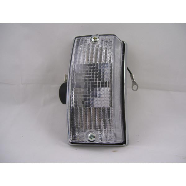 Vespa: Turn Signal Unit - Chrome - Front Left - PE/PX/Stella