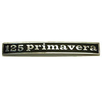 "Vespa: Badge - Rear - ""125 Primavera"" - Rectangular"