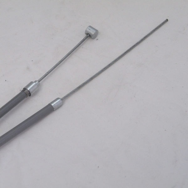 Vespa: Cable, Complete - Front Brake with Barrel - 10 inch
