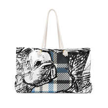 "Load image into Gallery viewer, Grateful Weekender Bag ""Play on Mable Sketches"" #1"