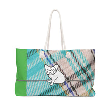 "Load image into Gallery viewer, Grateful Weekender Bag ""Play on Plaid"" #3"