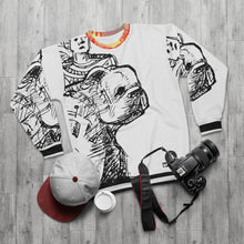 "Load image into Gallery viewer, Grateful Sweatshirt ""Mable the Bulldog Sketches"" #1"