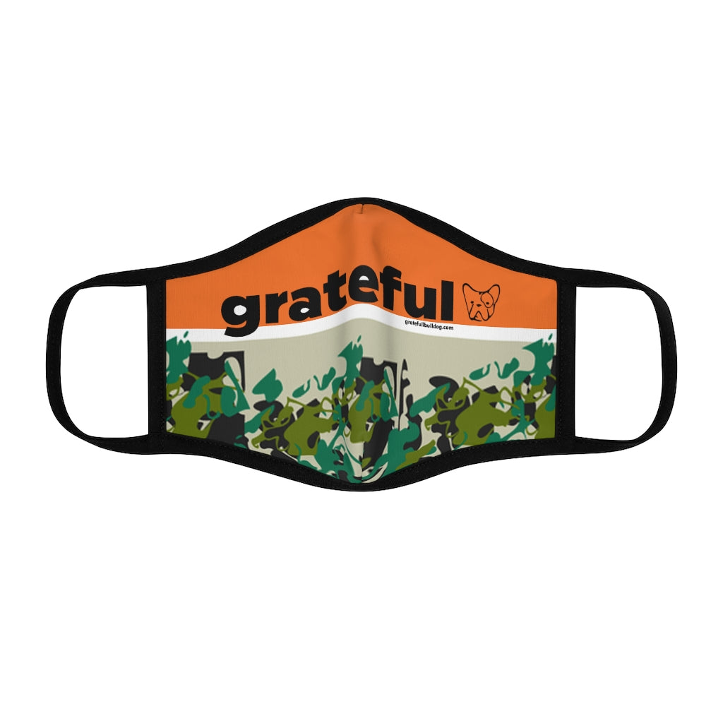 Grateful Fitted Polyester Face Mask