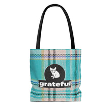 "Load image into Gallery viewer, Grateful Tote Bag ""Play on Plaid"" #3"