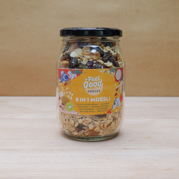 Feel Good Grocer 8-in-1 Muesli in a bottle