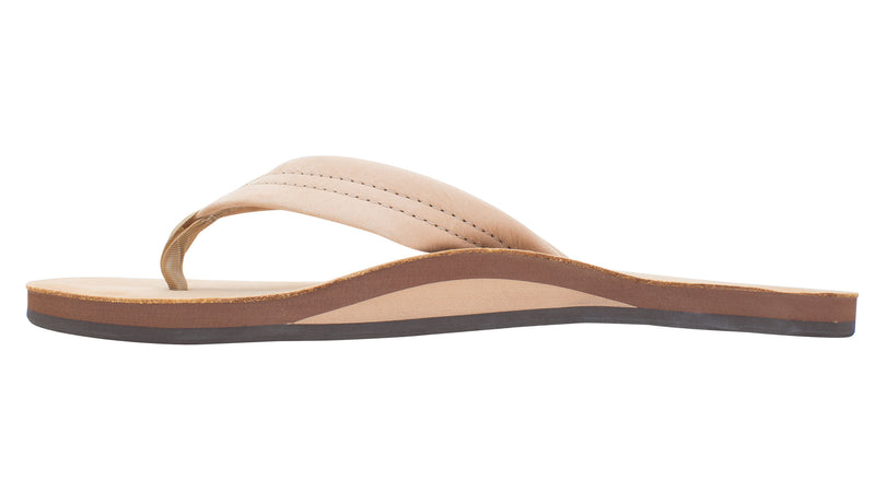 Rainbow Sandals Single Layer Premier Leather with Arch Support Sierra Brown