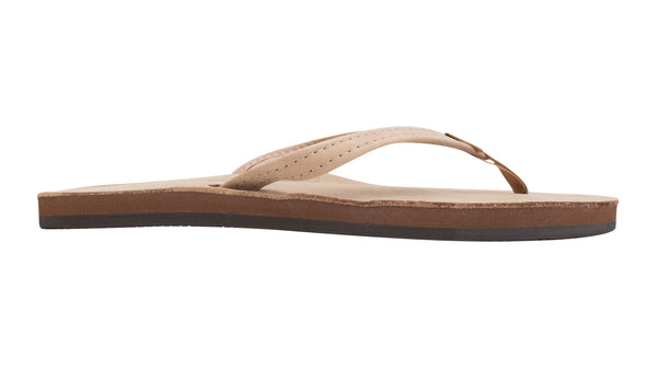 "Rainbow Single Layer Premier Leather with Arch Support and a 1/2"" Narrow Strap Sierra Brown"