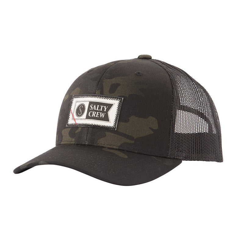 SALTY CREW TOPSTITCH MULTICAM BLACK RETRO TRUCKER