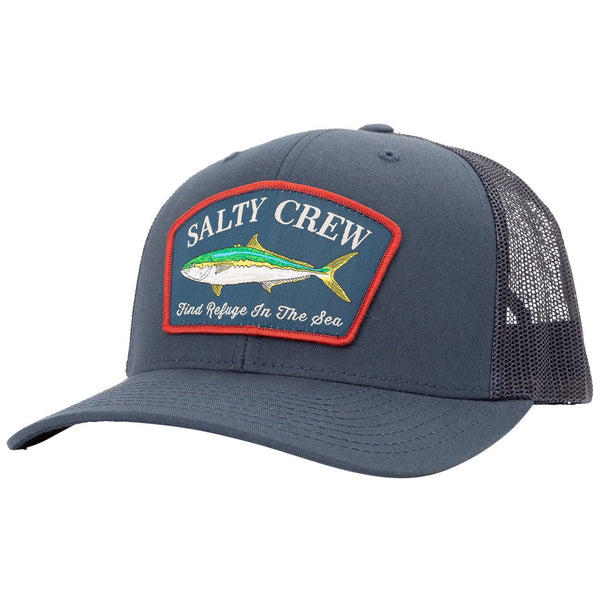 SALTY CREW MOSSBACK NAVY RETRO TRUCKER