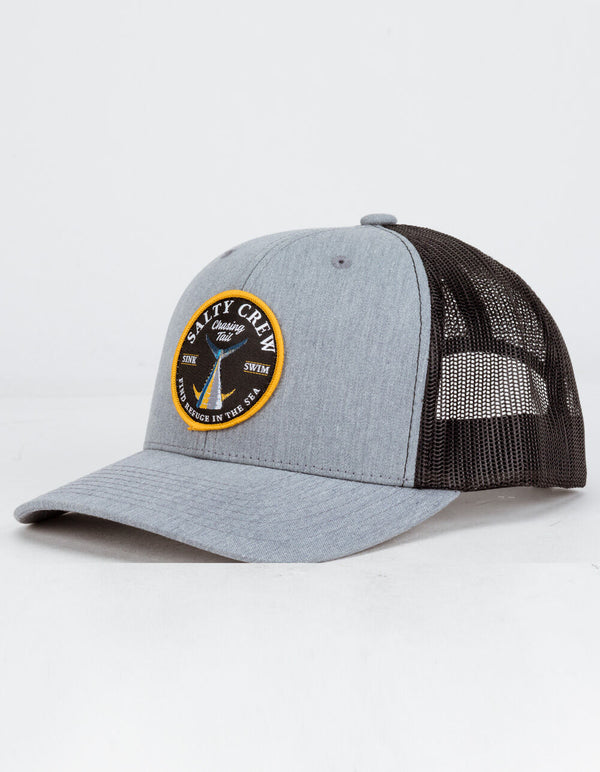 SALTY CREW Bottom Dweller Retro Mens Gray Trucker Hat