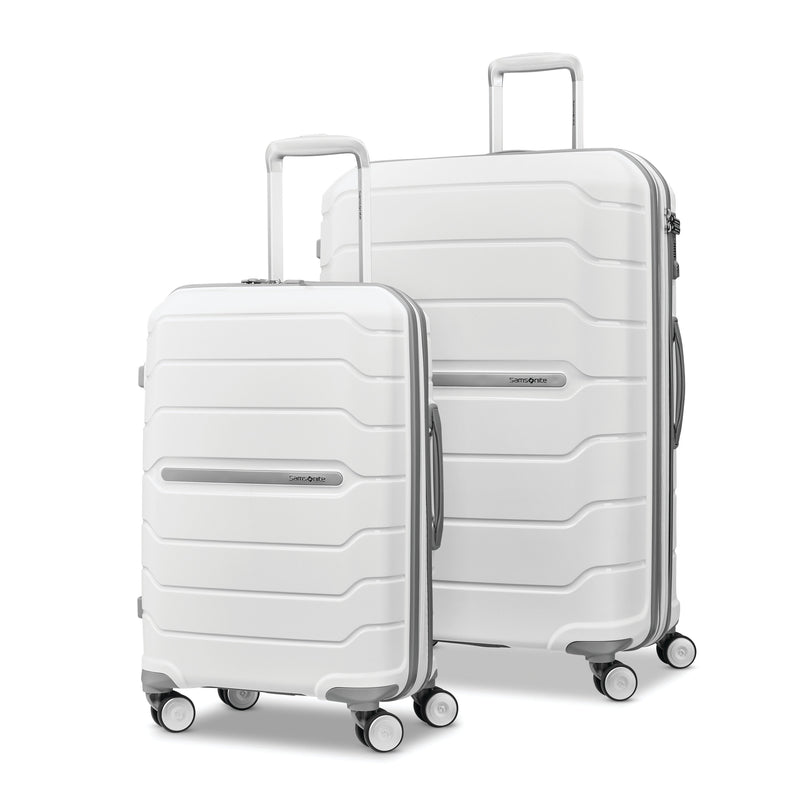 "SAMSONITE  LARGE CHECKED 28"" WHITE FREEFORM COLLECTION"