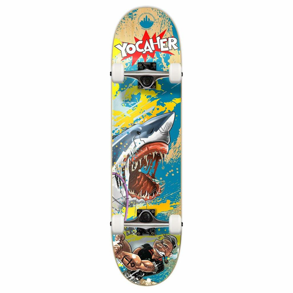 "Graphic Complete Skateboard 7.75"" - Retro Series - Fishing"