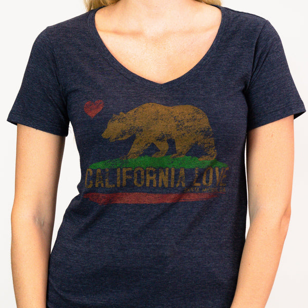 Cali On My Mind Santa Monica, CA - V-Neck Shirt