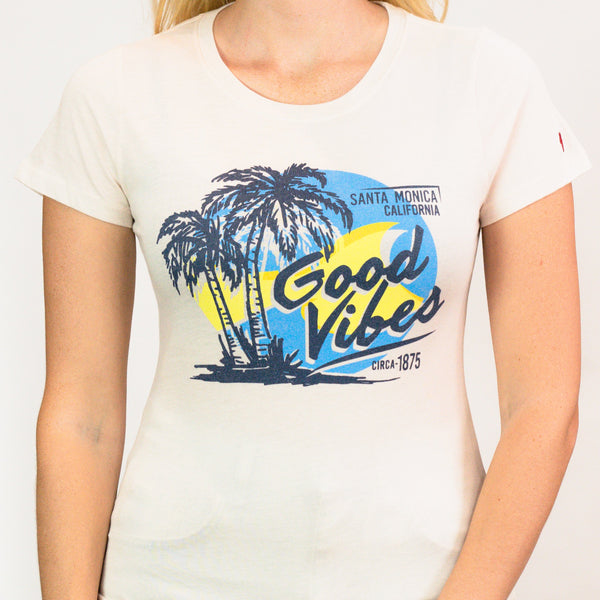 Good Vibes Blue Sky Santa Monica, CA T-Shirt