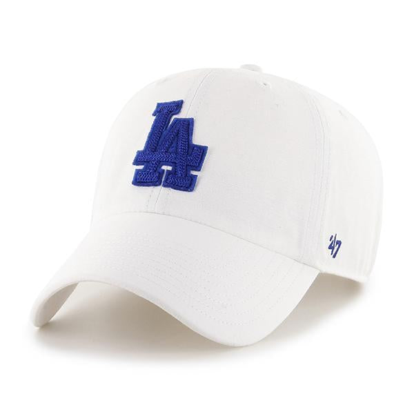 LOS ANGELES DODGERS CHAINLINK '47 CLEAN UP WHITE