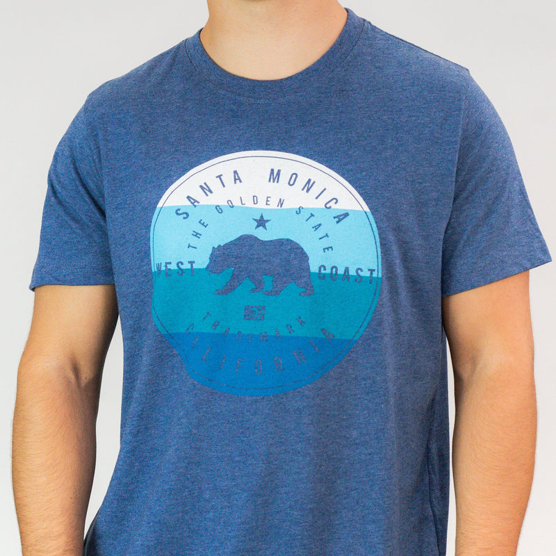 The Golden State Cali Bear Santa Monica, CA T-Shirt