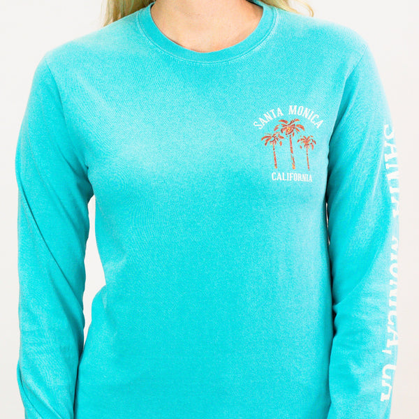 Beach Scene Tex Hex Santa Monica, CA Long Sleeve Shirt