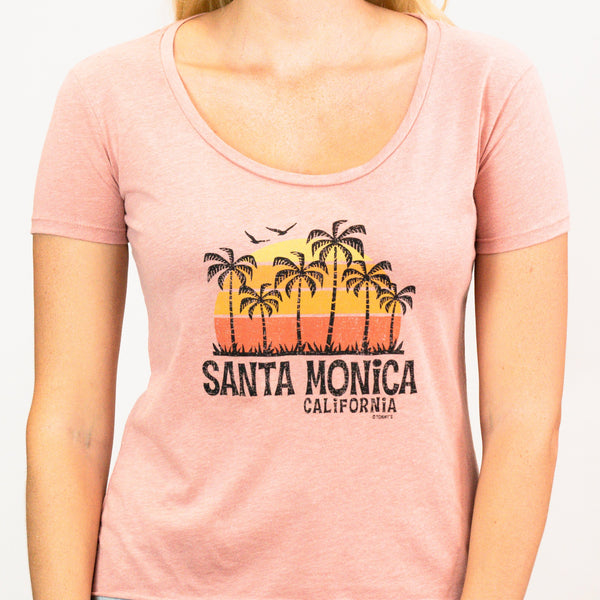 70's Palm Trees Design Santa Monica, CA Shirt