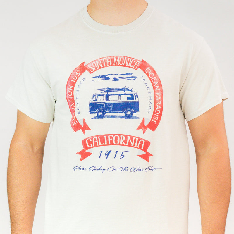 Red Glare Surf Bus Santa Monica, CA T-Shirt