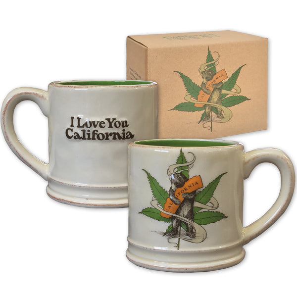 Cannabis CA Bear Hug Ceramic Mug