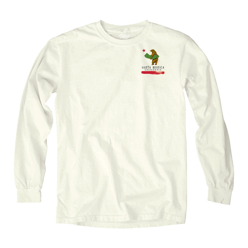 Cali Surfer Bear Santa Monica, CA - Long Sleeve