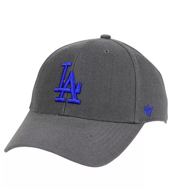 '47 Los Angeles Dodgers Charcoal MVP Adjustable Hat