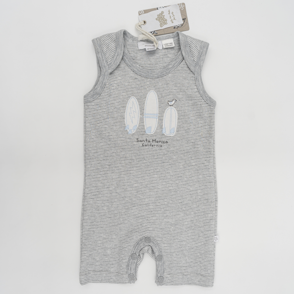 "Earth Nymph ""Boards"" Baby Boy Romper Onesie"