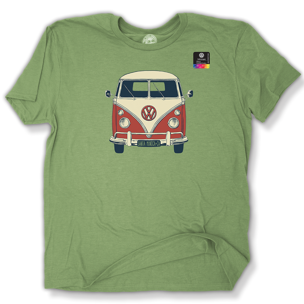 VW Boogie Van Official Licensed product Santa Monica, California T-Shirt