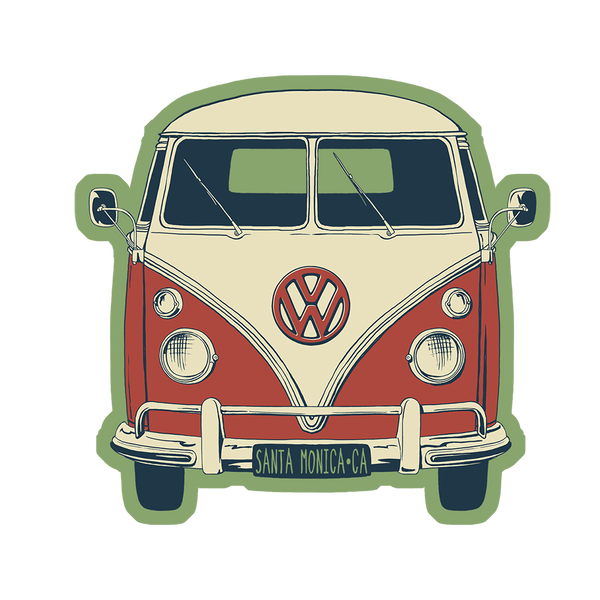 VW Boogie Van Sticker