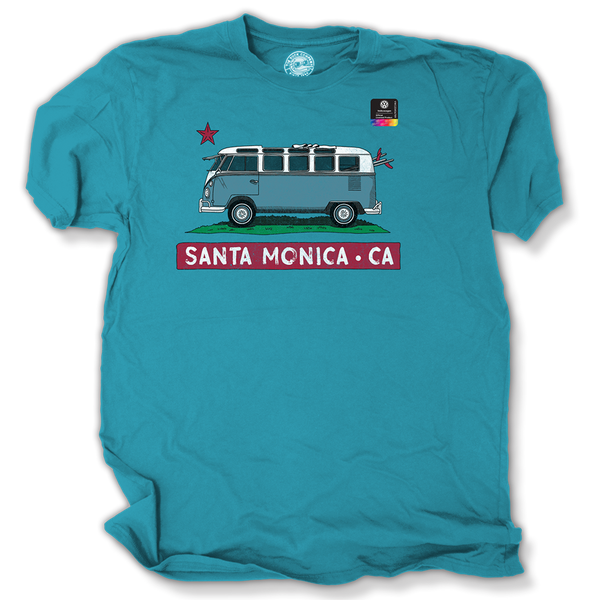 VW Cali Bus Official Licensed product Santa Monica, California T-Shirt