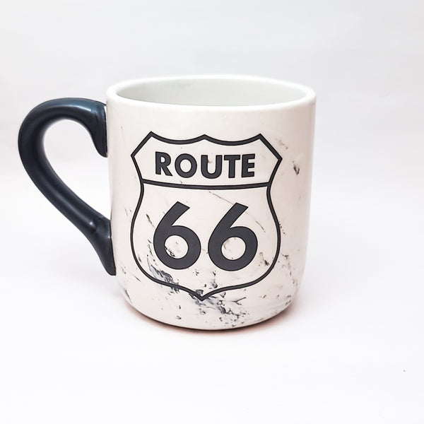 Route 66 Marble Finish Mug