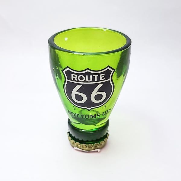 Route 66 Bottle Top Shot Glass -  1oz