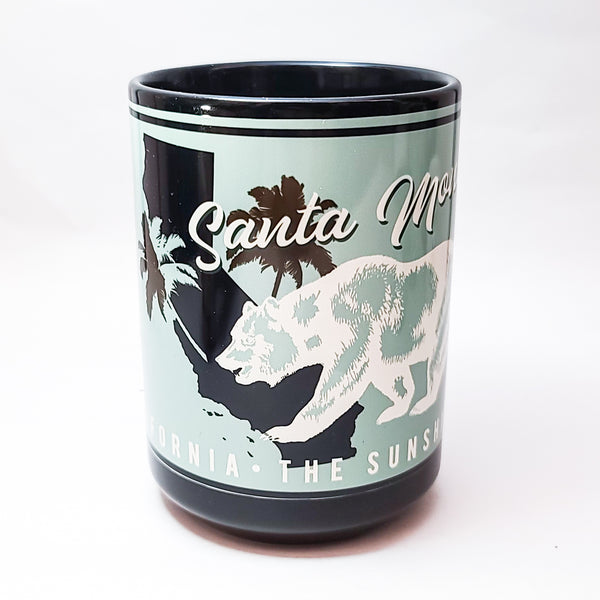 """Sunshine State"" Santa Monica California Ceramic Mug"