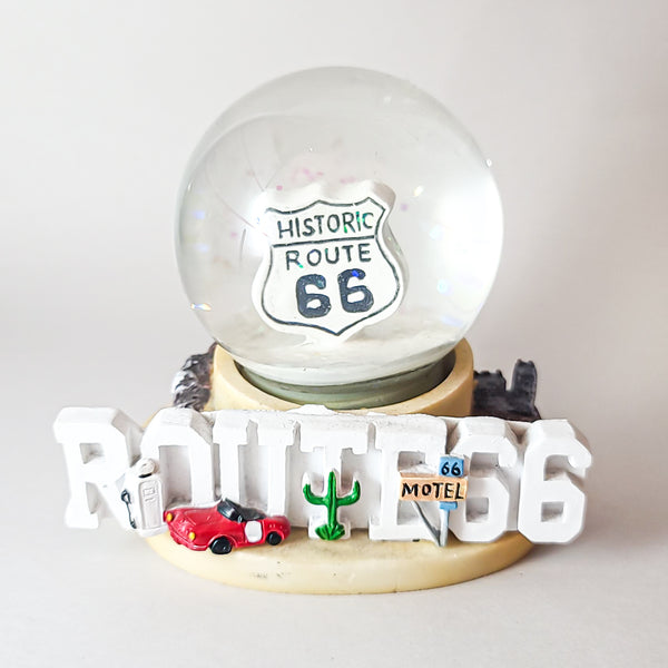 "Route 66 ""Desert Highway"" Large Sized Snow Globe"
