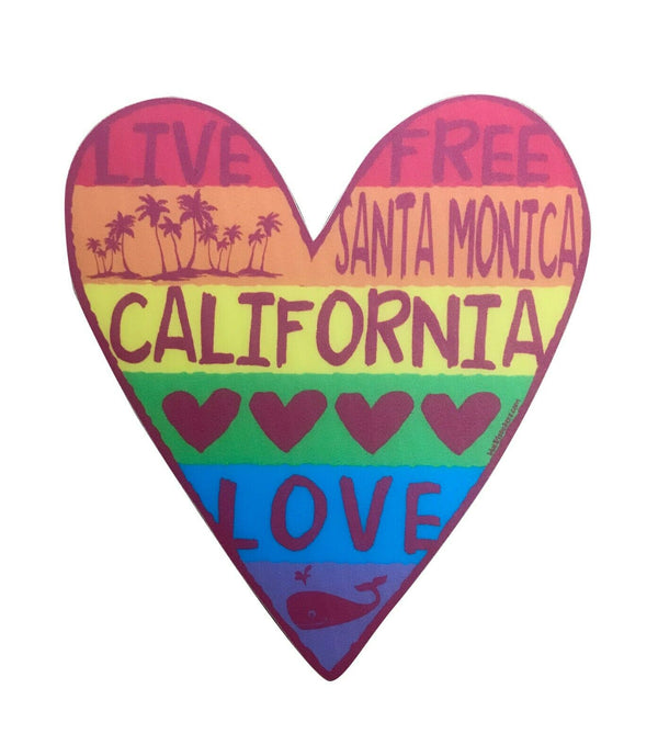 Vinyl Santa Monica Heart Sticker