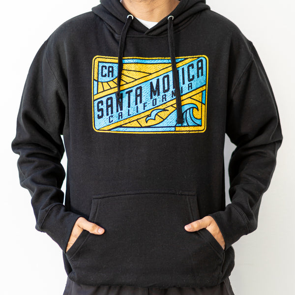 """Retro"" Santa Monica California Print Men's Hoodie"