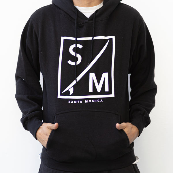 """Square Surf"" Santa Monica California Print Men's Hoodie"