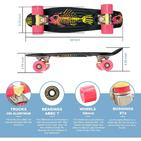 "Swell 22"" Complete Fishbone Black Yellow Pink mini Skateboard"
