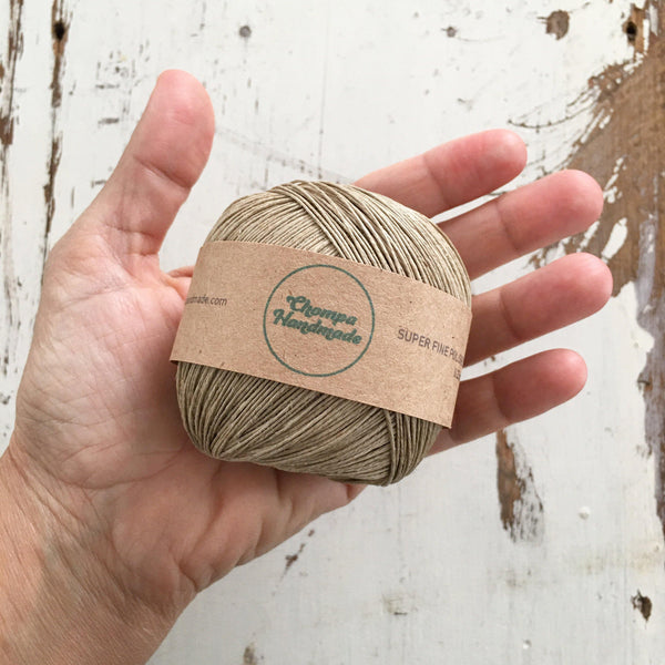 SUPER FINE POLISHED NATURAL HEMP STRING