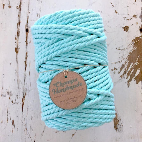 AQUA 5mm TWISTED 500g - Chompa Handmade