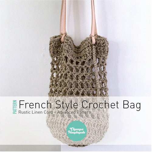 PATTERN - Rustic French Style Crochet Bag - Chompa Handmade
