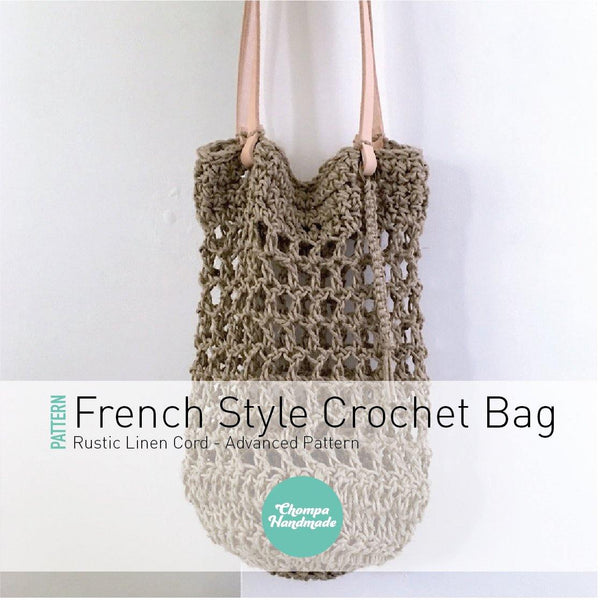 PATTERN - Rustic French Style Crochet Bag