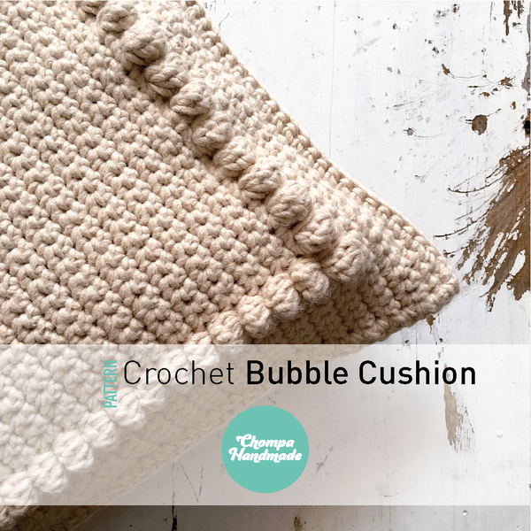 PATTERN - Crochet Bubble Cushion - English/Castellano
